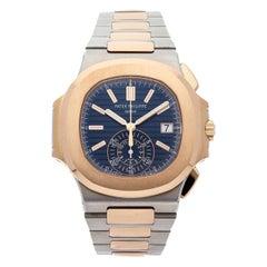 Patek Philippe 5980/1AR-001 Chronograph Two-Tone Blue Dial Watch 'P-41'