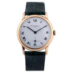 Patek Philippe, a Fine and Rare 18 Karat Gold Wristwatch