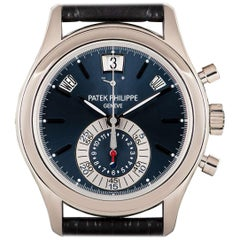 Patek Philippe Annual Calendar Platinum Blue Dial 5960P-015 Automatic Wristwatch