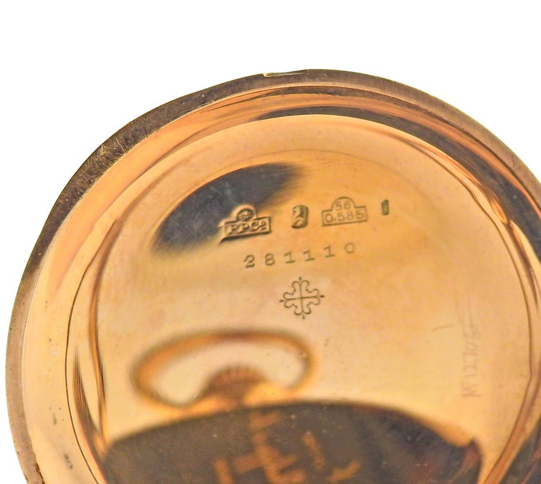 Patek Philippe Antique Gold Pocket Watch For Sale 1