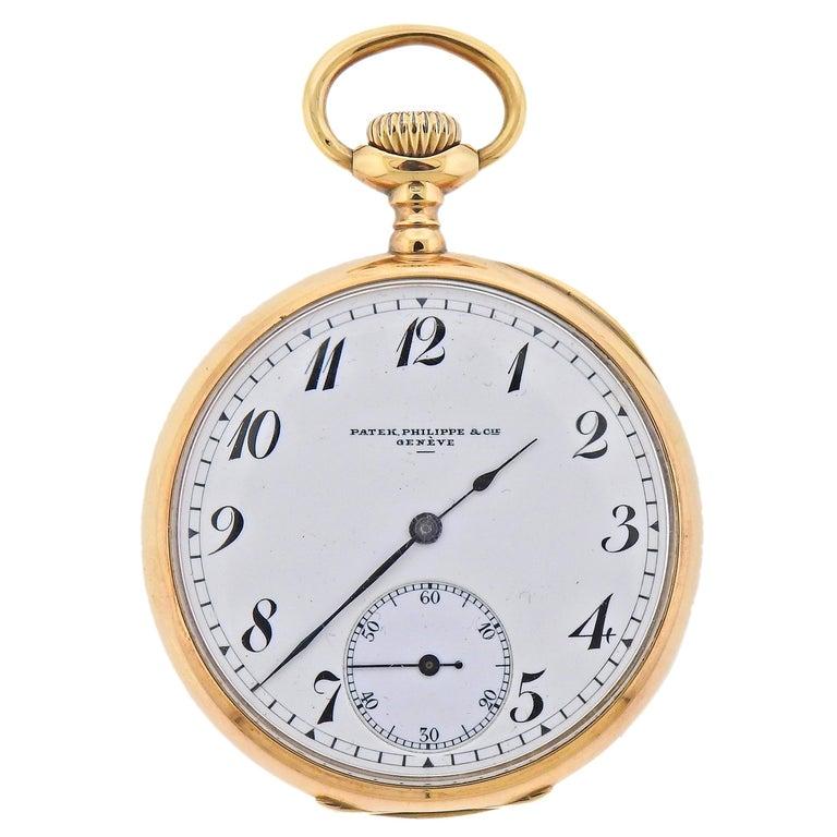 Patek Philippe Antique Gold Pocket Watch For Sale
