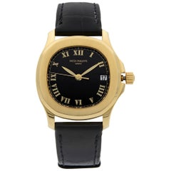 Patek Philippe Aquanaut 18k Yellow Gold Black Dial Automatic Men Watch 5060J-001