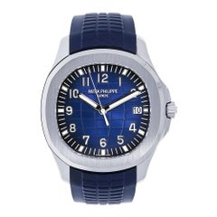 Patek Philippe Aquanaut 20th Anniversary White Gold Blue Dial Watch 5168G-001