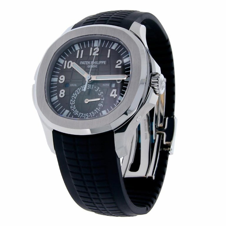 Contemporary Patek Philippe Aquanaut Stainless Steel Rubber Strap Watch 5164A-001 For Sale