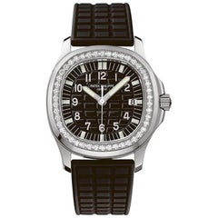 Patek Philippe Aquanaut Black Ladies Watch with 46 Diamonds