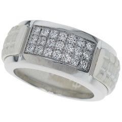 Patek Philippe Aquanaut Luce Diamond Rubber 18 Karat White Gold Ring