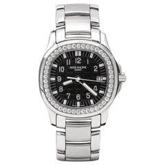 Patek Philippe Aquanaut Stainless Steel Ladies Watch with 46 Diamonds