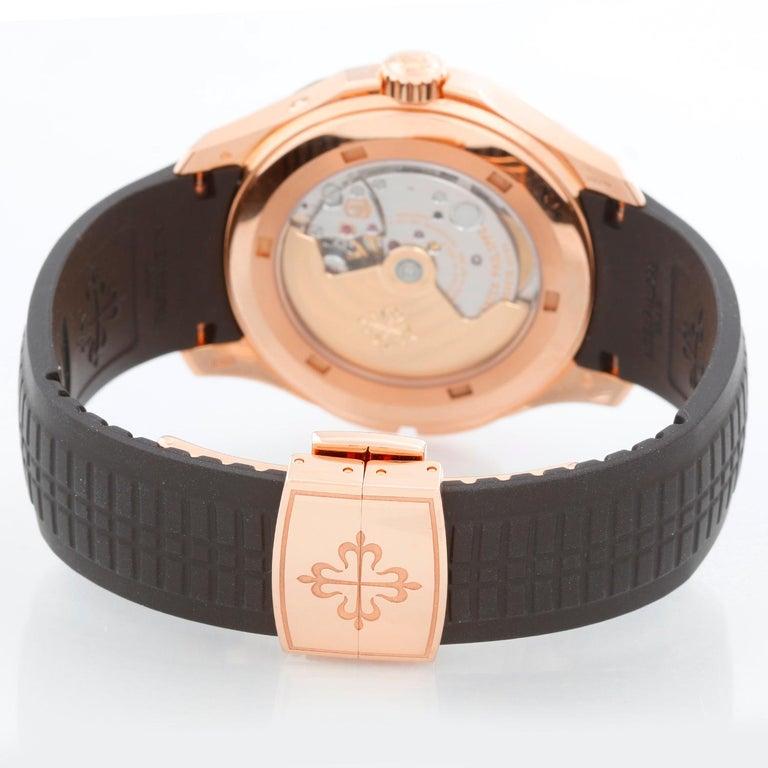 Patek Philippe Aquanaut Travel Time 18 Karat Rose Gold Men's 5164R '5164 R' In Excellent Condition For Sale In Dallas, TX