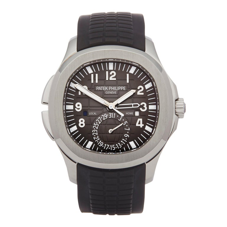Patek Philippe Aquanaut Travel Time Stainless Steel 5164A For Sale