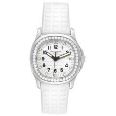 Patek Philippe Aquanaut White Ladies Watch with 46 Diamonds