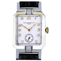 Patek Philippe Art Deco Yellow and White Gold Wristwatch Dated 1927