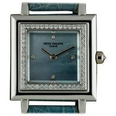 Patek Philippe Blue Mother Of Pearl Dial Gondolo 4866 Quartz Watch