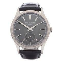 Patek Philippe Calatrava 0 6119G-001 Men White Gold 0 Watch