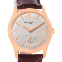 Patek Philippe Calatrava 18 Karat Rose Gold Mechanical Watch 5196r Papers