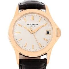 Patek Philippe Calatrava 18 Karat Rose Gold Watch 5107R Box Papers