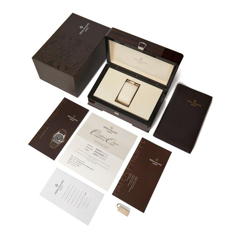 Patek Philippe Calatrava 18 Karat White Gold 6000G For Sale 3
