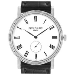 Patek Philippe Calatrava 18 Karat White Gold Automatic Men's Watch 5119