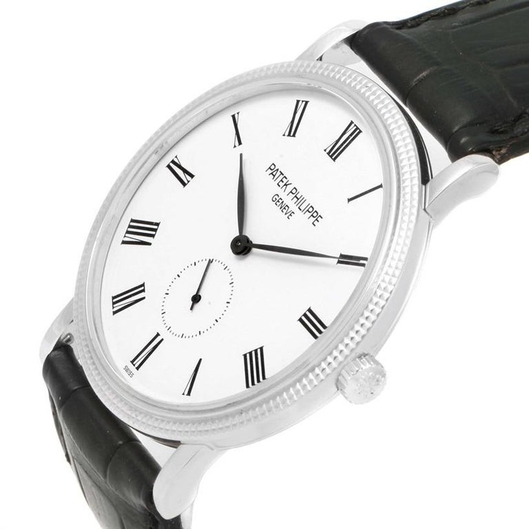 Patek Philippe Calatrava 18 Karat White Gold Watch 5119G 3
