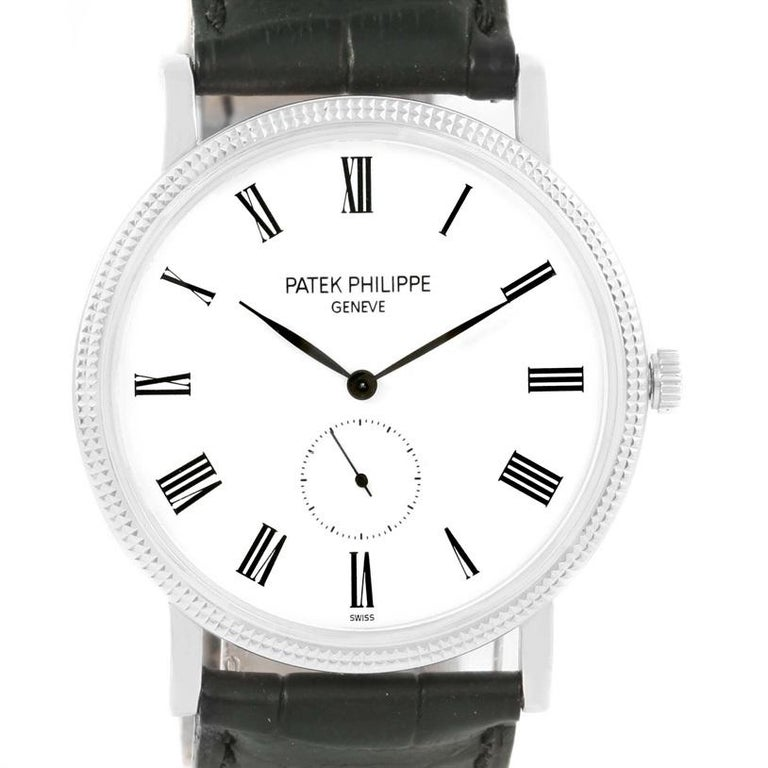 Patek Philippe Calatrava 18 Karat White Gold Watch 5119G