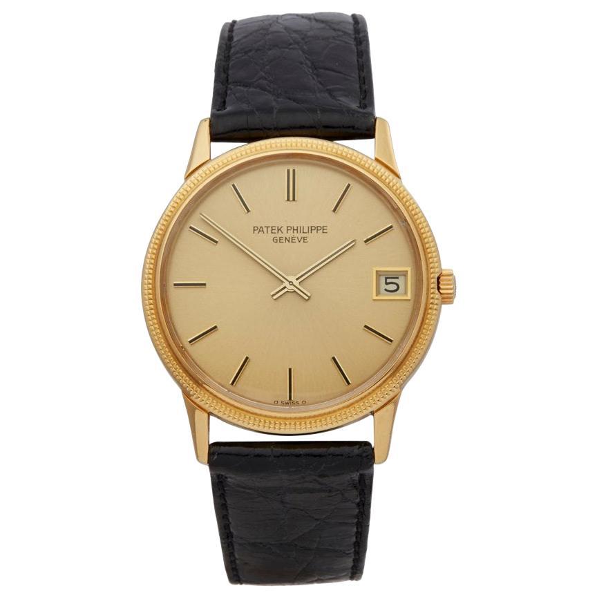 Patek Philippe Calatrava 18 Karat Yellow Gold 3602 Wristwatch