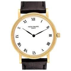 Patek Philippe Calatrava 18 Karat Yellow Gold Automatic Men's Watch 3992