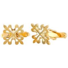 Patek Philippe Calatrava 18 Karat Yellow Gold Cufflinks