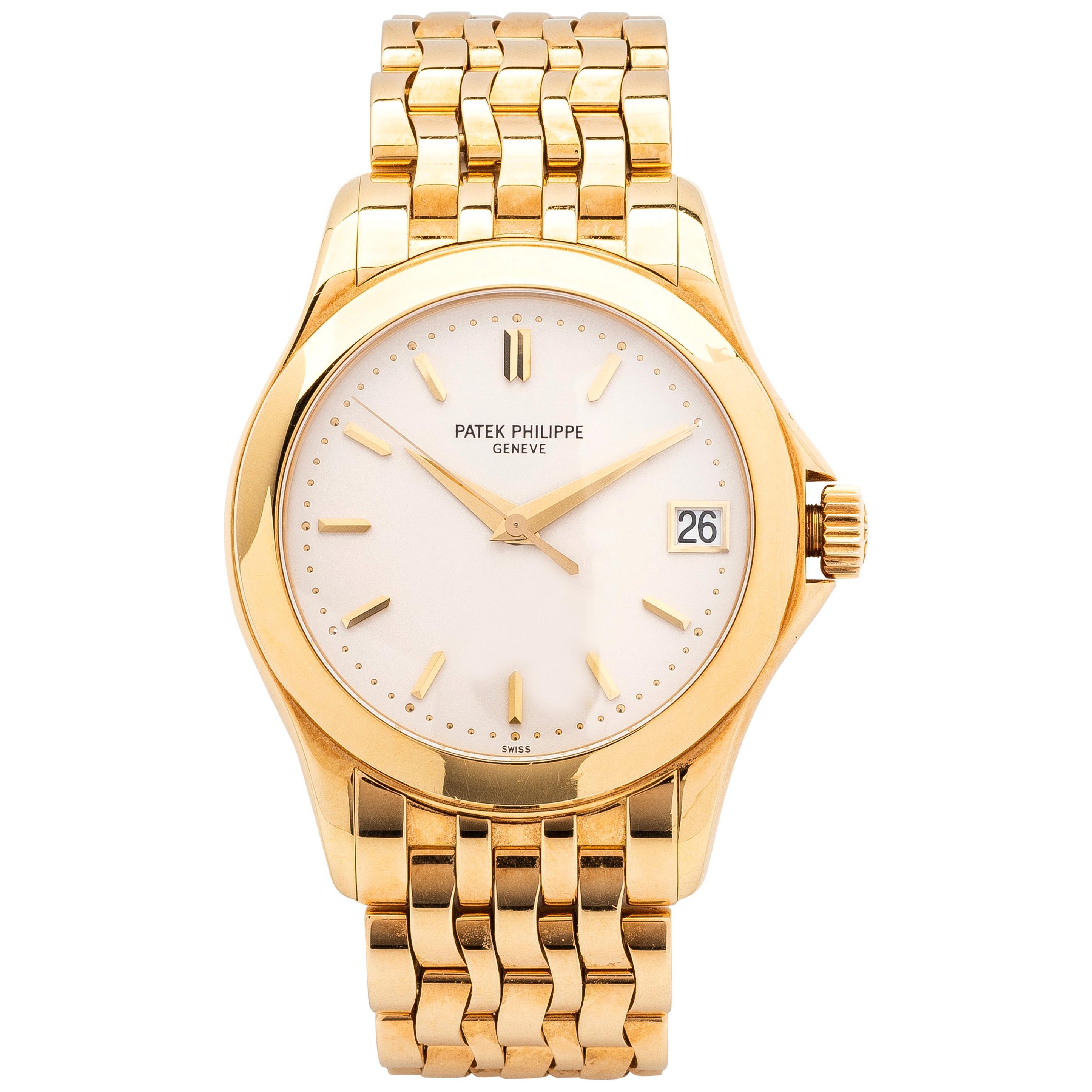 Patek Philippe Calatrava 18 Karat Yellow Gold Watch