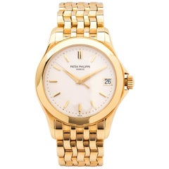Patek Philippe Calatrava 18 Karat Yellow Gold Watch