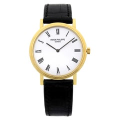 Patek Philippe Calatrava 18k Gold White Dial Automatic Men's Watch 5120J-001