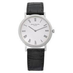 Patek Philippe Calatrava 18k Gold White Roman Dial Automatic Men Watch 5120G-001