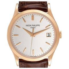 Patek Philippe Calatrava 18K Rose Gold Mens Watch 5296R Box Papers