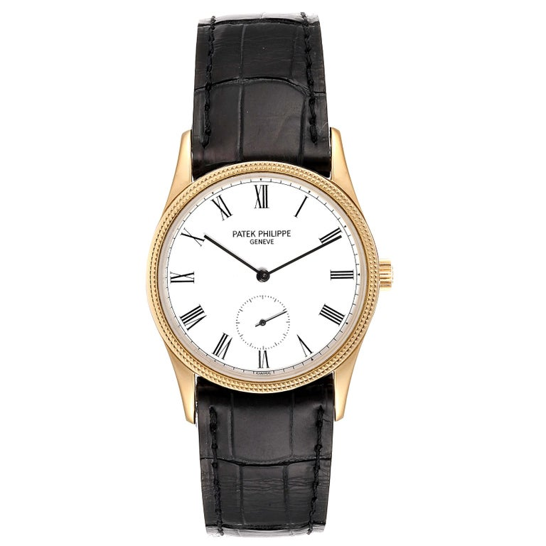 Patek Philippe Calatrava 18k Rose Gold Vintage Watch 3796. Manual winding movement. Rhodium plated, fausses cotes decoration, straight-line lever escapement, Gyromax balance adjusted for heat, cold isochronism and 5 positions, shock absorbers, self-