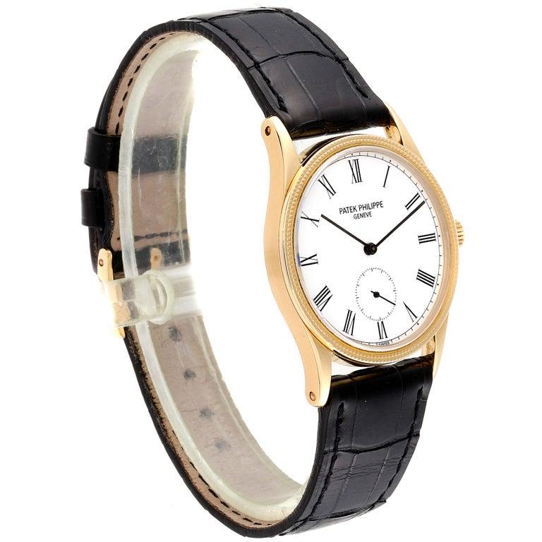 Patek Philippe Calatrava 18 Karat Rose Gold Vintage Watch 3796 In Excellent Condition In Atlanta, GA