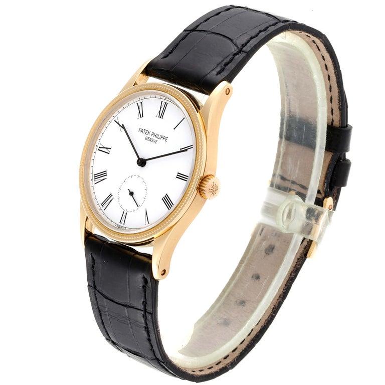 Men's Patek Philippe Calatrava 18 Karat Rose Gold Vintage Watch 3796