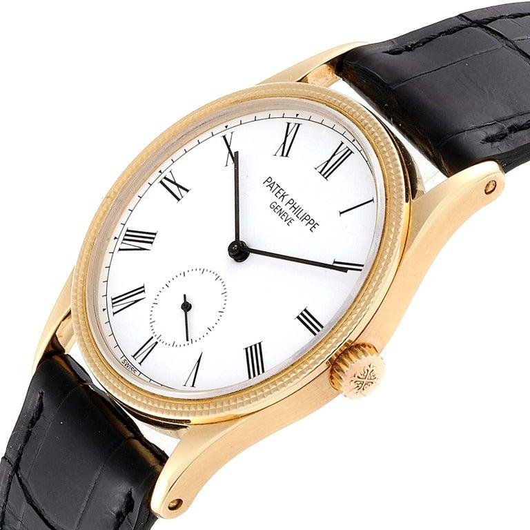 Patek Philippe Calatrava 18 Karat Rose Gold Vintage Watch 3796 1