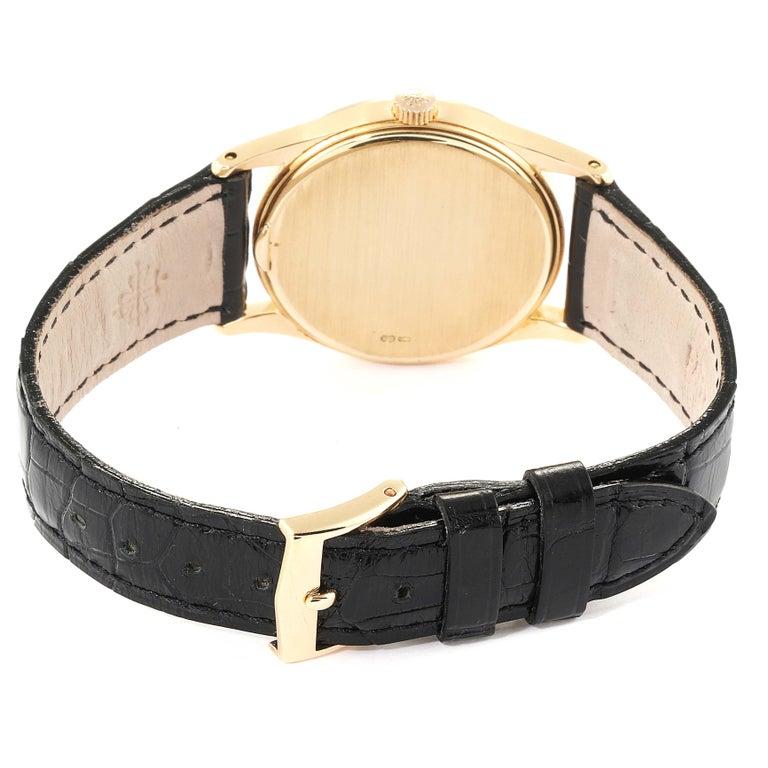 Patek Philippe Calatrava 18 Karat Rose Gold Vintage Watch 3796 2
