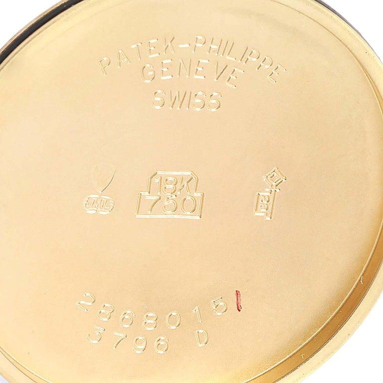 Patek Philippe Calatrava 18 Karat Rose Gold Vintage Watch 3796 3