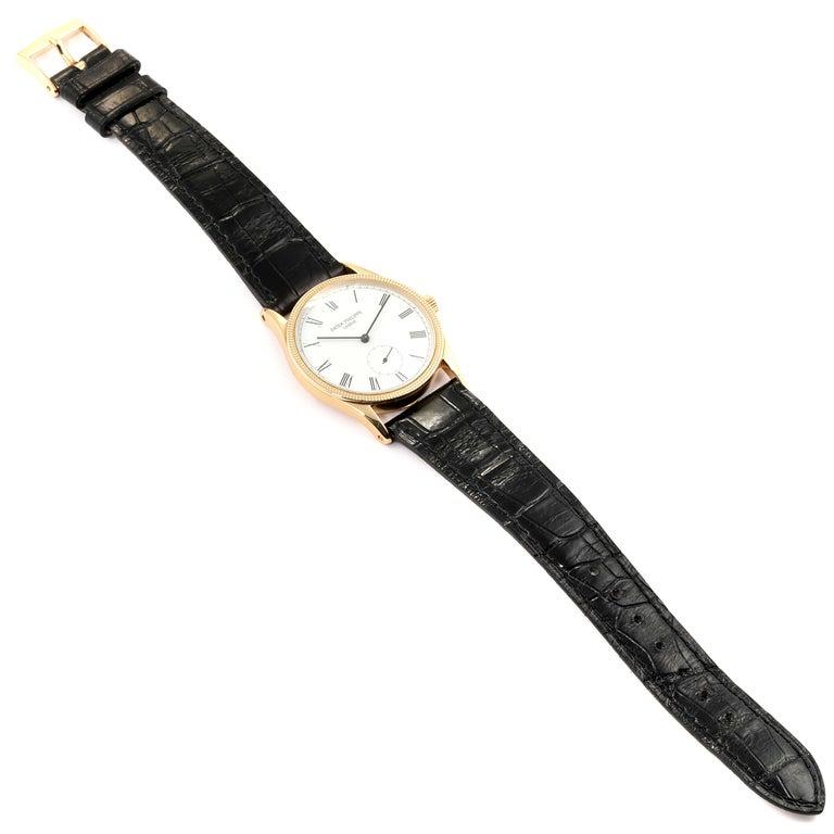 Patek Philippe Calatrava 18 Karat Rose Gold Vintage Watch 3796 5