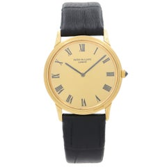 Patek Philippe Calatrava 18k Solid Gold Champagne Dial Automatic Mens Watch 3591