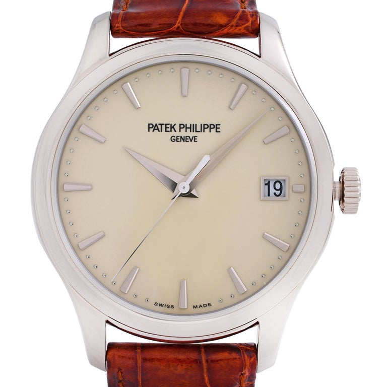 Pre-owned Excellent Condition. Minor Wear Sign-on inner side of the band. Comes with a manufacturer's box and papers. Backed by a 1-year warranty provided by Chronostore. Details: MSRP 37850 Brand Patek Philippe Color Gold Department  Men Model