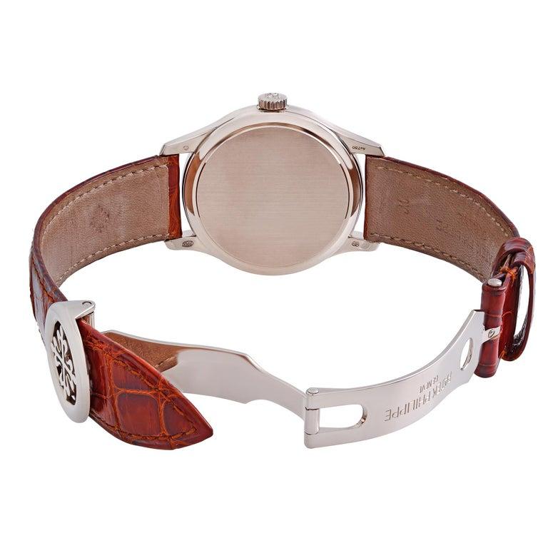 Patek Philippe Calatrava 18K White Gold Beige Dial Automatic Men Watch 5227G-001 For Sale 1