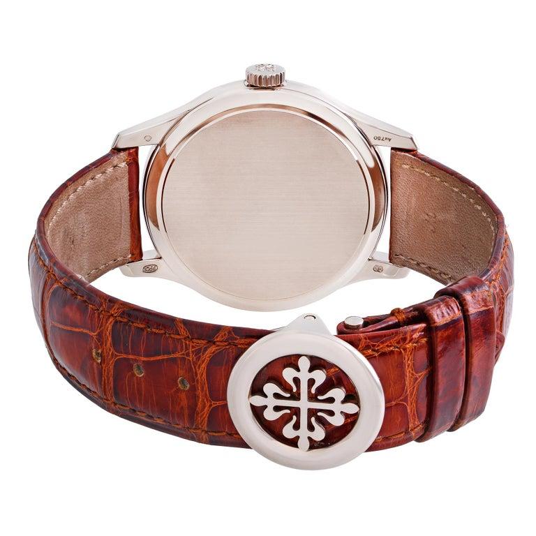 Patek Philippe Calatrava 18K White Gold Beige Dial Automatic Men Watch 5227G-001 For Sale 2