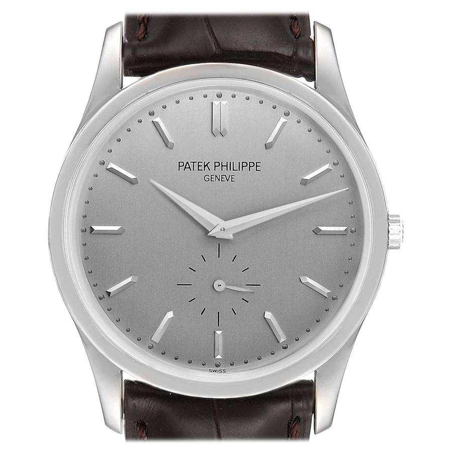 Patek Philippe Calatrava 18k White Gold Mechanical Mens Watch 5196