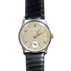 Patek Philippe Calatrava 1950s Steel Manual Wind Wristwatch