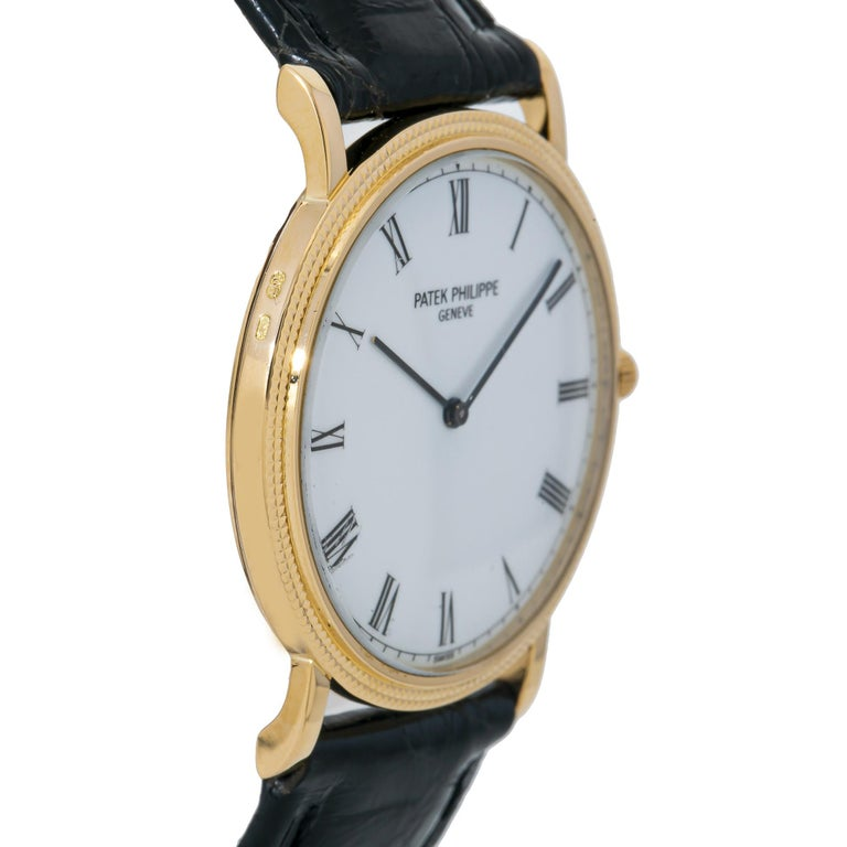 Patek Philippe Calatrava 3520, White Dial, Certified and Warranty For Sale 2