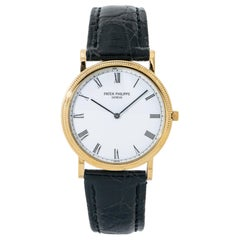 Patek Philippe Calatrava 3520, White Dial, Certified and Warranty