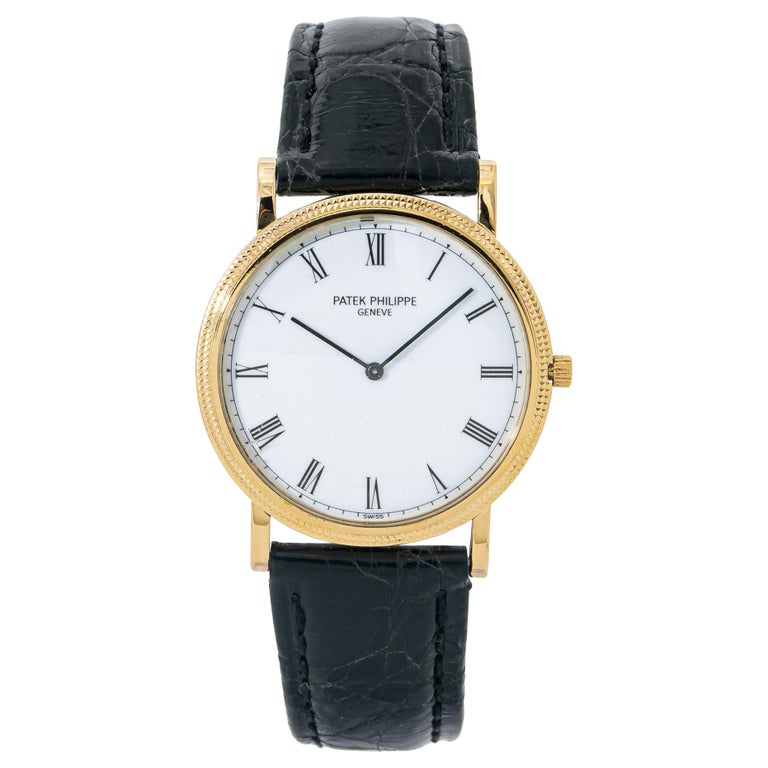 Patek Philippe Calatrava 3520, White Dial, Certified and Warranty For Sale