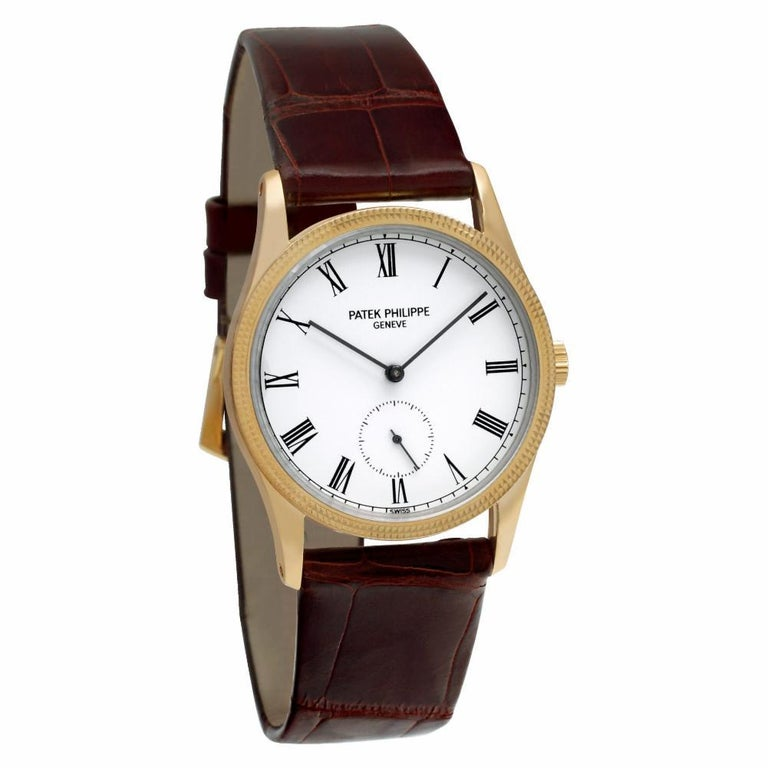 Men's Patek Philippe Calatrava 3796, White Dial, Certified and Warranty For Sale