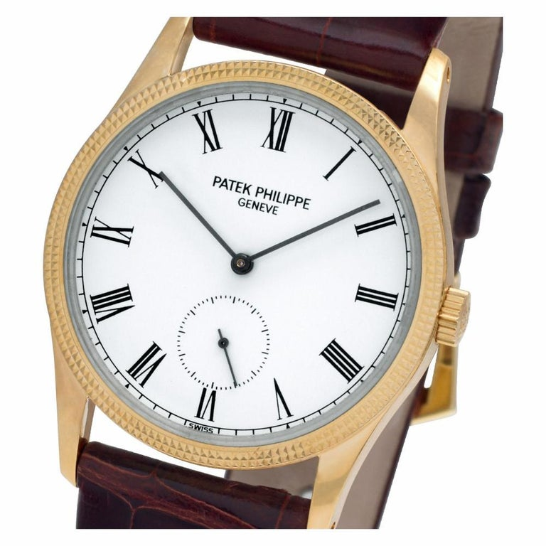 Patek Philippe Calatrava 3796, White Dial, Certified and Warranty For Sale 2