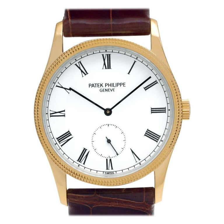 Patek Philippe Calatrava 3796, White Dial, Certified and Warranty For Sale